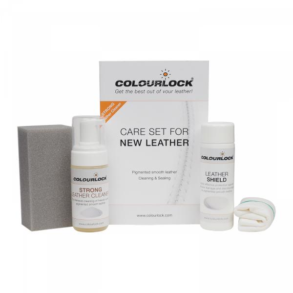 Odos priežiūros rinkinys: Colourlock Leather Strong Cleaning & Sealing Kit